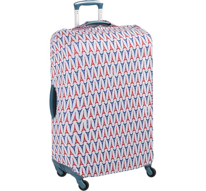 Delsey Travel Necessities Suitcase Cover S/M Blue/White/Red