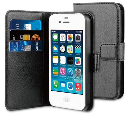 BeHello Wallet Case Apple iPhone 4/4S Zwart