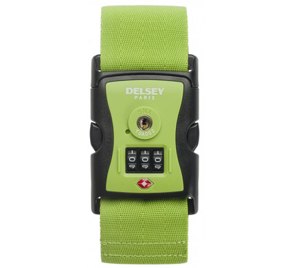 Delsey Travel Necessities Luggage Strap (USA) Lime