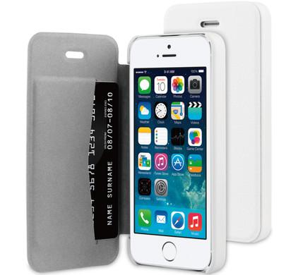 BeHello Book Case Apple iPhone 5/5S/SE Wit