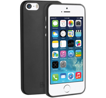 BeHello Thin Gel Case Apple iPhone 5/5S/SE Zwart