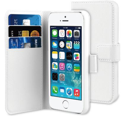 BeHello Wallet Case Apple iPhone 5/5S/SE Wit