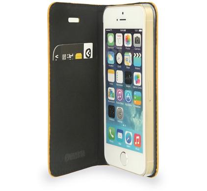 Valenta Booklet Classic Style Apple iPhone 5/5S/SE Geel