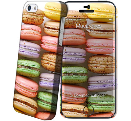 I-Paint Cover Apple iPhone 5/5S/SE Macarons