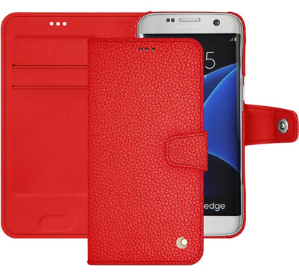 Noreve Tradition B Grain Leather Case Samsung Galaxy S7 Rood
