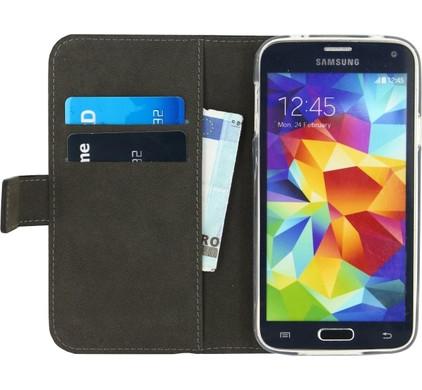 Mobilize Gelly Wallet Book Case Samsung Galaxy S5/S5 Plus/S5 Neo Zwart