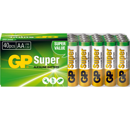 GP Super Alkaline 40-pack AA