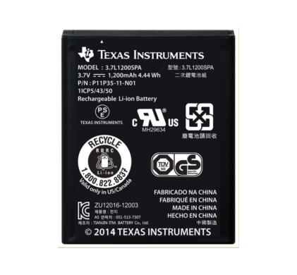 Texas Instruments rechargeable battery Main Image