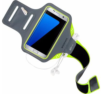 Mobiparts Comfort Fit Sportarmband Samsung Galaxy S7 Edge Groen