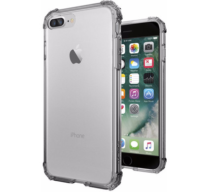 Spigen Crystal Shell Apple iPhone 7 Plus/8 Plus Donker Transparant