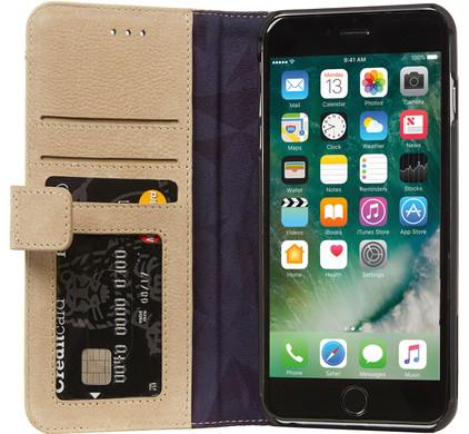 Decoded Leather Wallet Case Apple iPhone 7 Plus/8 Plus Beige