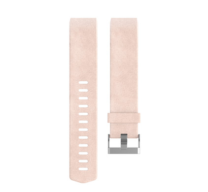 Fitbit Charge 2 Polsband Leather Blush Pink - S