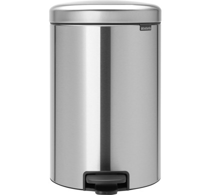 Pedaalemmer 20 Liter.Brabantia Newicon Pedal Trash Can 20 Liters Matte Stainless Steel