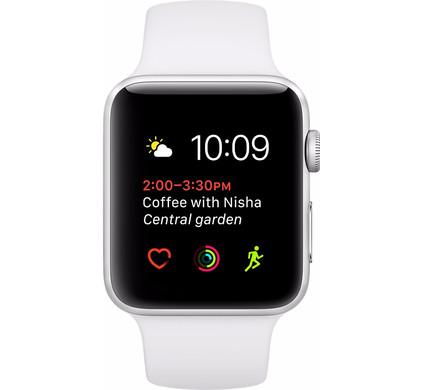 Apple Watch Series 1 38mm Zilver Aluminium/Witte Sportband