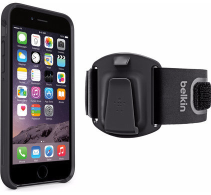 Belkin ClipFit Sports Armband Apple iPhone 6/6s Zwart