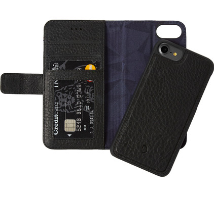 Decoded Leather 2-in-1 Wallet Case Apple iPhone 6/6s/7/8 Zwart