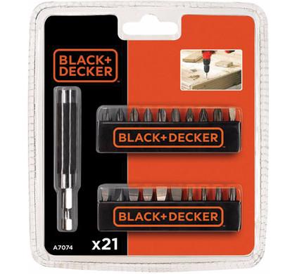 Black & Decker 20-delige bitset A7074-XJ