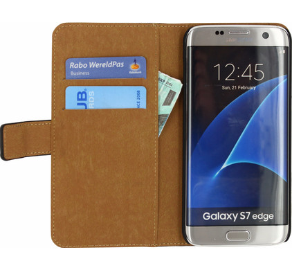 Mobilize Classic Wallet Case Samsung Galaxy S7 Edge Zwart