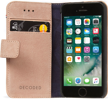 Decoded Leather Book Apple iPhone 5/5S/SE Roze