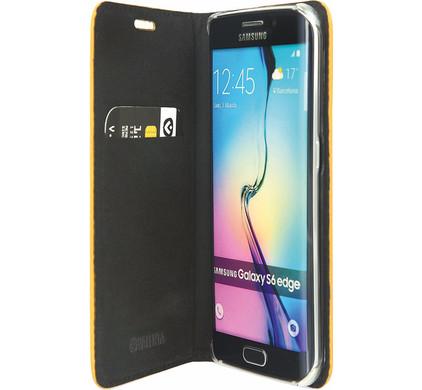 Valenta Booklet Classic Style Samsung Galaxy S6 Edge Geel