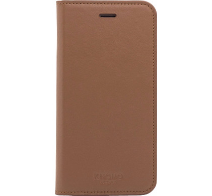 Knomo Leather Book Case Apple iPhone 7/8 Lichtbruin