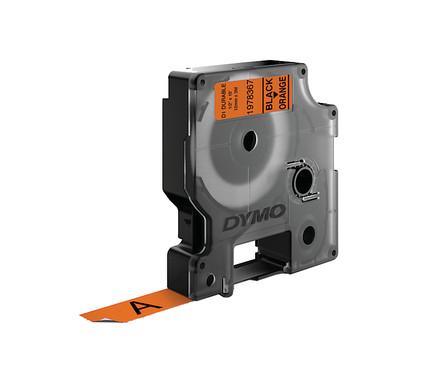 Dymo LW Duurzame D1 Label Zwart-Oranje (12 mm x 3 m)