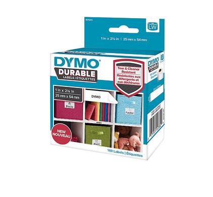 Dymo LW Duurzame Label Wit 160 Labels (25 mm x 54 mm)