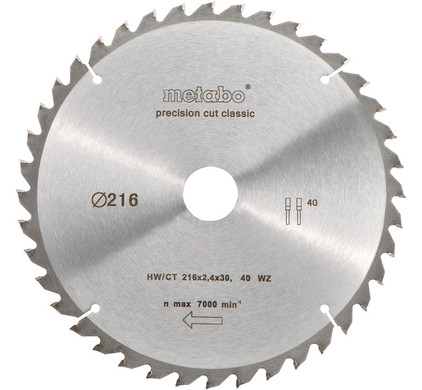 Metabo Zaagblad 216x30x1.6mm 30T