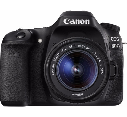 Canon EOS 80D DSLR + EF-S 18-55mm f/4.0-5.6 IS STM