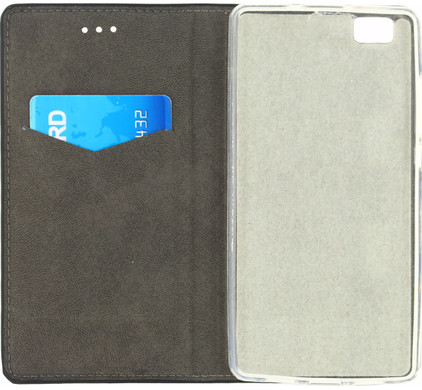 Mobilize Premium Gelly Wallet Book Case Huawei P8 Lite Zwart