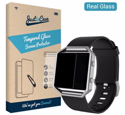 Just in Case Tempered Glass Fitbit Blaze Main Image