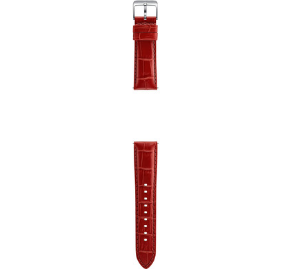 Samsung Gear S3 Leather Alligator Band Orange Red