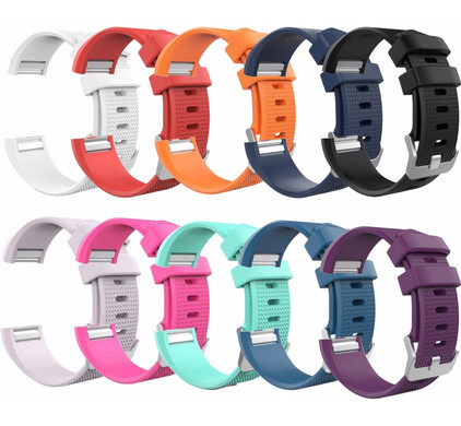 Just in Case Fitbit Charge 2 -10 Silicone Watchbands - L