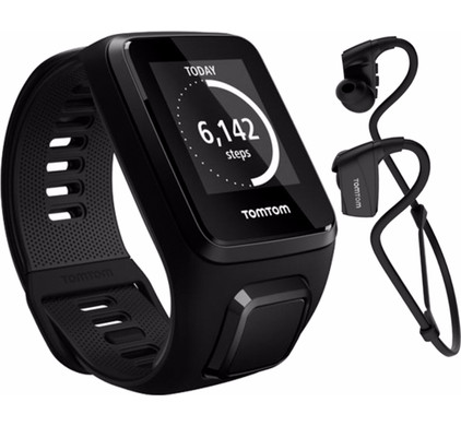 TomTom Spark 3 Cardio + Music + Headphones Black - L