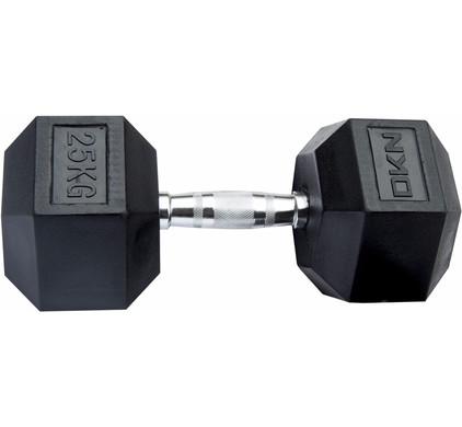 DKN Rubber Hex Dumbbell 25 kg