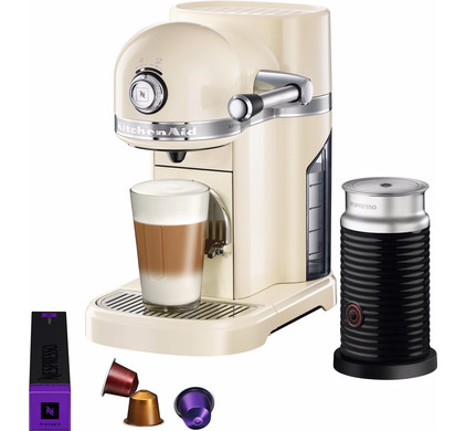 KitchenAid Nespresso and Aeroccino 5KES0504 Almond Main Image