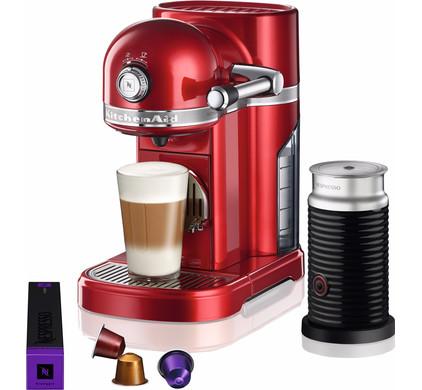 KitchenAid Nespresso and Aeroccino 5KES0504 Apple Red Main Image