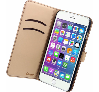 Muvit Wallet Apple iPhone 6 Plus/6s Plus Book Case Bruin