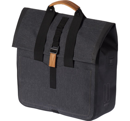 Basil Urban Dry Shopper 20L Charcoal Zwart