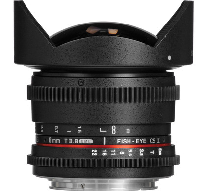 Samyang 8mm T3.8 HD Diagonal Fisheye Canon
