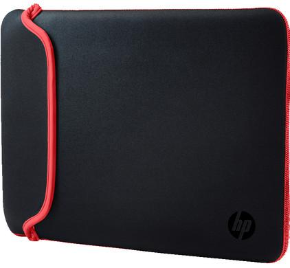 "HP 14"" Reversible Sleeve Zwart/Rood"