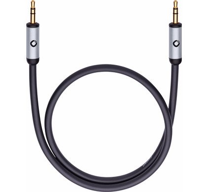 Oehlbach i-Connect J-35 3,5 mm kabel 0,5 meter Zwart