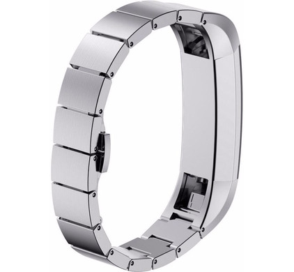 Just in Case RVS Polsband Fitbit Alta Zilver