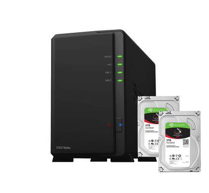 Synology DS216play + 6 TB