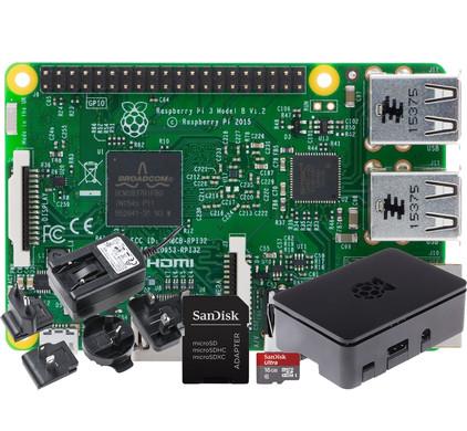 Raspberry Pi 3 + Behuizing + Micro SD + Oplader