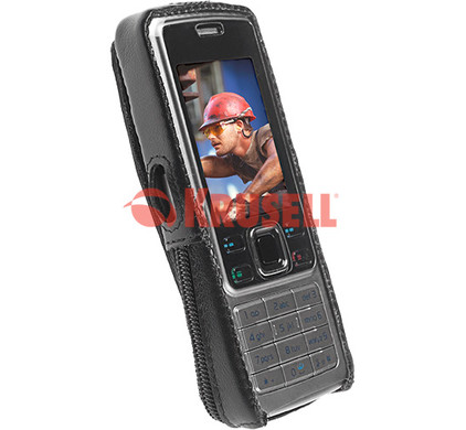 Krusell Classic Leather Case Nokia 6300 + Screenprotector