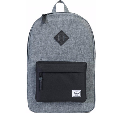 Herschel Heritage Raven Crosshatch/Black Pebbled Leather
