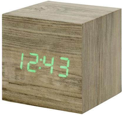 Gingko Cube Click Clock Grijs