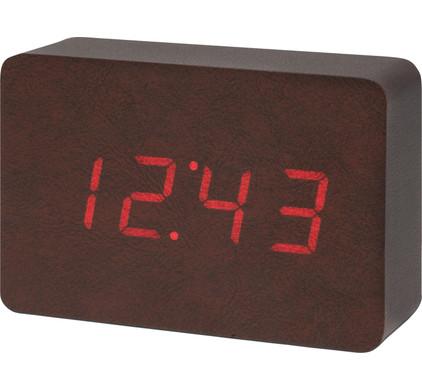 Gingko Brick Click Clock Bruin