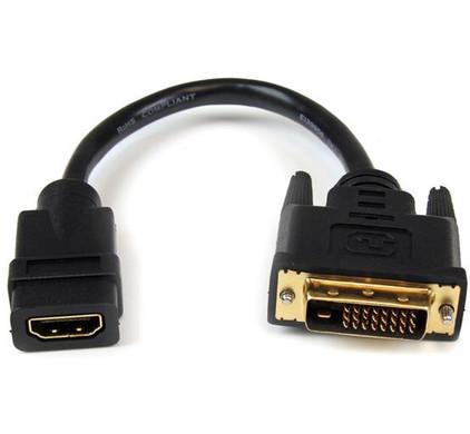 Startech HDMI naar DVI-D Dual Link Video Adapter Kabel 20 CM
